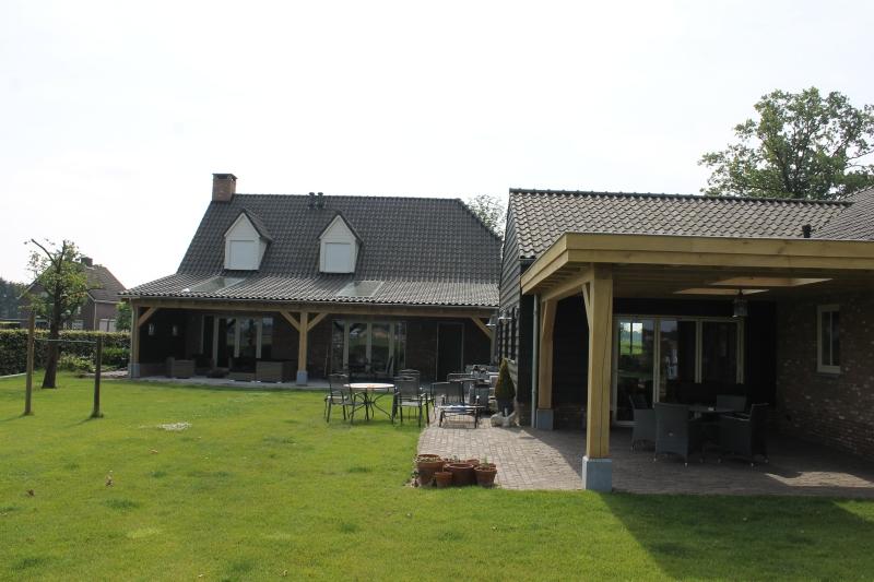 Houten verandas, Eiken terrasoverkappingen, Afdak sloophout