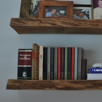 Beste Houten boekenplanken, Wandborden steigerhout, Blinde bevestiging AE-63